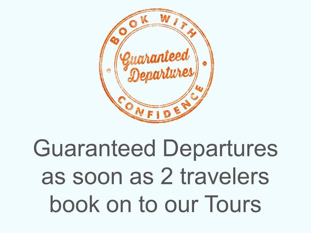 tour guaranteed departure.JPG