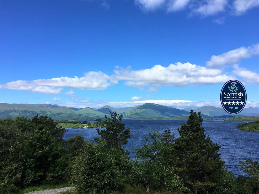 looking out over loch lomond on the west highland way