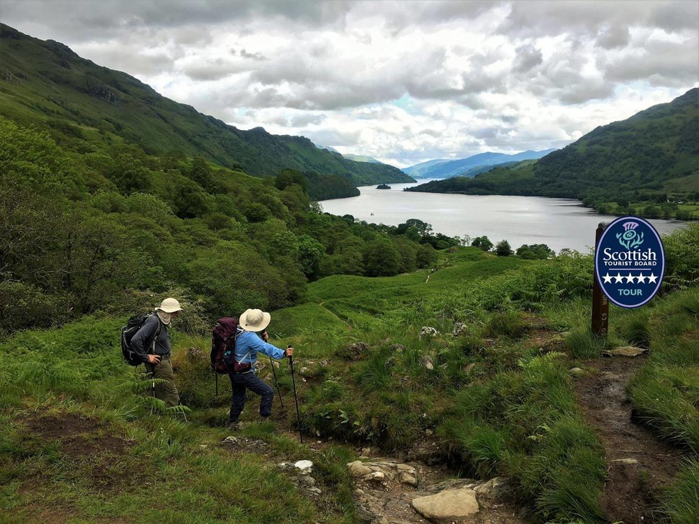 looking south over loch lomond on the west highland way