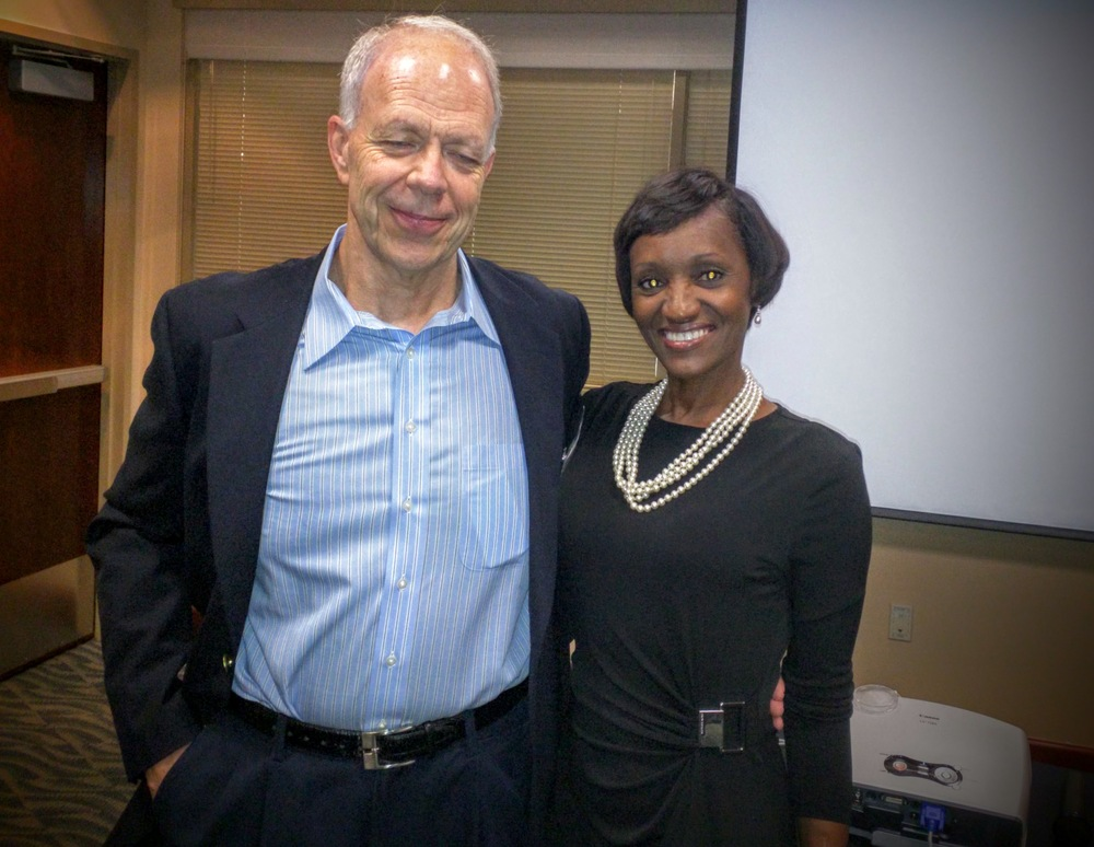 John Vogt (left), President of CSCMP Houston and Tracey Anthony (right), Chief Compliance Officer, Crane Worldwide