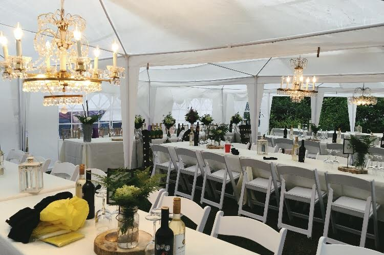 Tented Reception Area