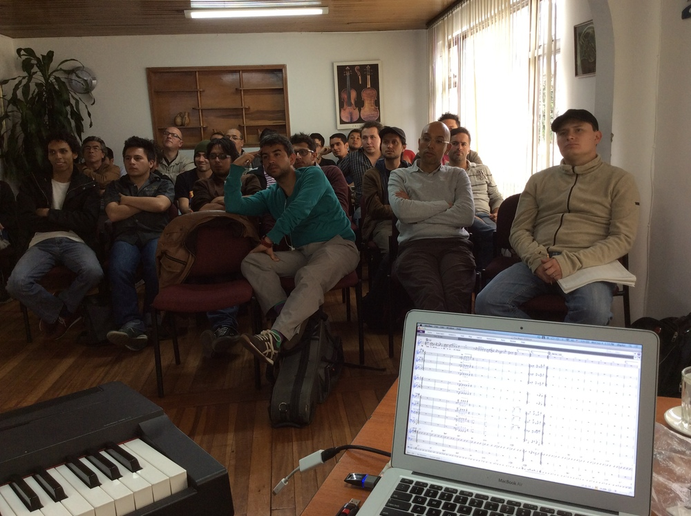 My Arranging workshop - demonstrating my arranging process using Sibelius and Pro Tools