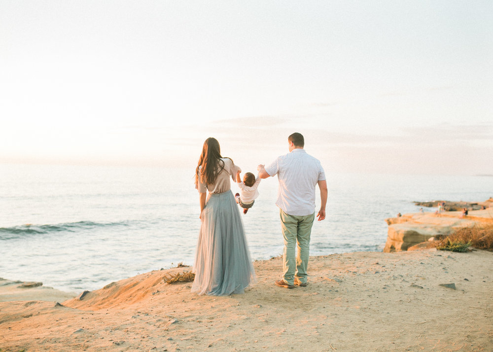 fine art film photography San Diego - beach family photos BHLDN mom style