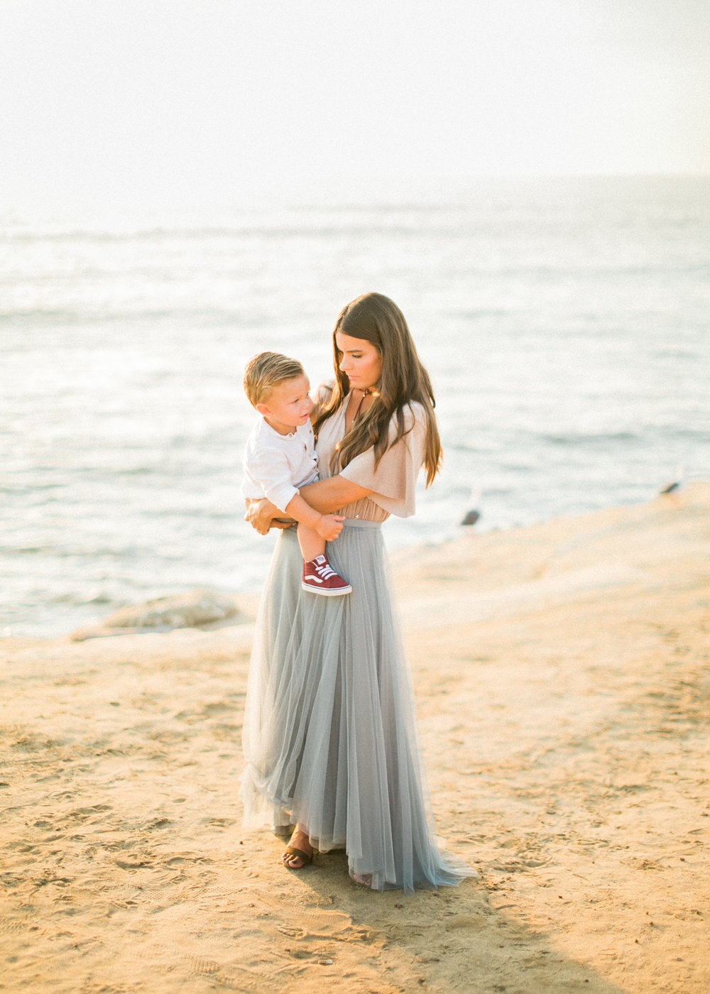 San Diego fine art family photographer - Sunset Cliffs beach family session