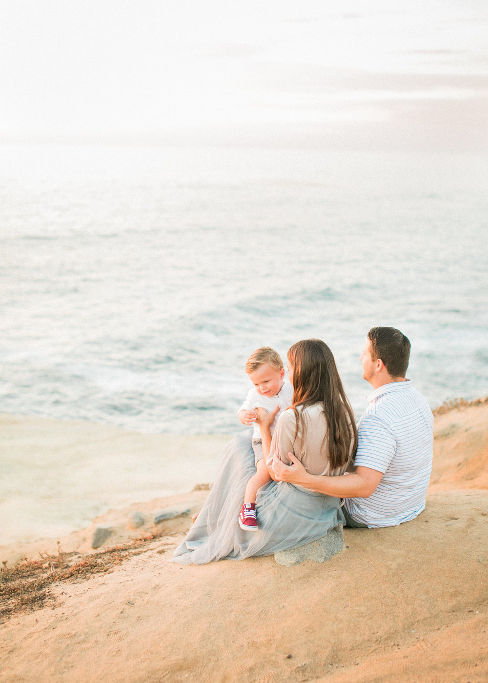 San Diego fine art film photography - Sunset Cliffs beach family photos