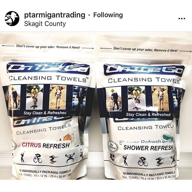 Big shoutout to our friends at @ptarmigantrading 👍🚿😁 repost @ptarmigantrading  We're now offering OnTheGo Towels in 10 Packs of Shower Refresh and Citrus Refresh and will continue to stock Unscented. Still amazing for the daily grind, still $10 🌲 You can also purchase them in singles for $1.25 😁  #PtarmiganTrading #onthegotowels #outdoors #bodywipes #running #bodybuilding #gym #triathlon #cycling #crossfit #fitness #motivation #healthylifestyle #spartanrace #fitspo #hiking #mma #jiujitsu #travel #shredded #camping #girlsthatlift #fitnessjourney #backpacking #aesthetic #summer #determination #boxing #cardio #tennis