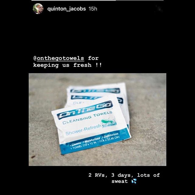 #TBT to always keeping you fresh when there's no shower available.  Repost @quinton_jacobs  #onthegotowels #bodywipes #shredded #bodybuilding #cycling #crossfit #fitness #triathlon #travel #tennis #gym #fitspo #hiking#mma #jiujitsu #camping #fitnessjourney #determination #boxing #cardio #freeshipping #winter #healthylifestyle #personaltrainer#girlsthatlift #backpacking #ketodiet #running #motivation