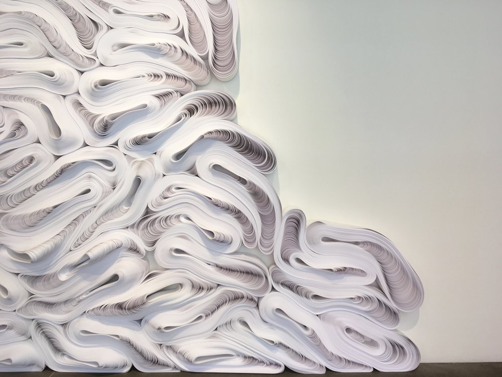 Detail of Jae Ko's Flow at Robischon Gallery