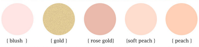 rose gold blush color palette rose gold blush color