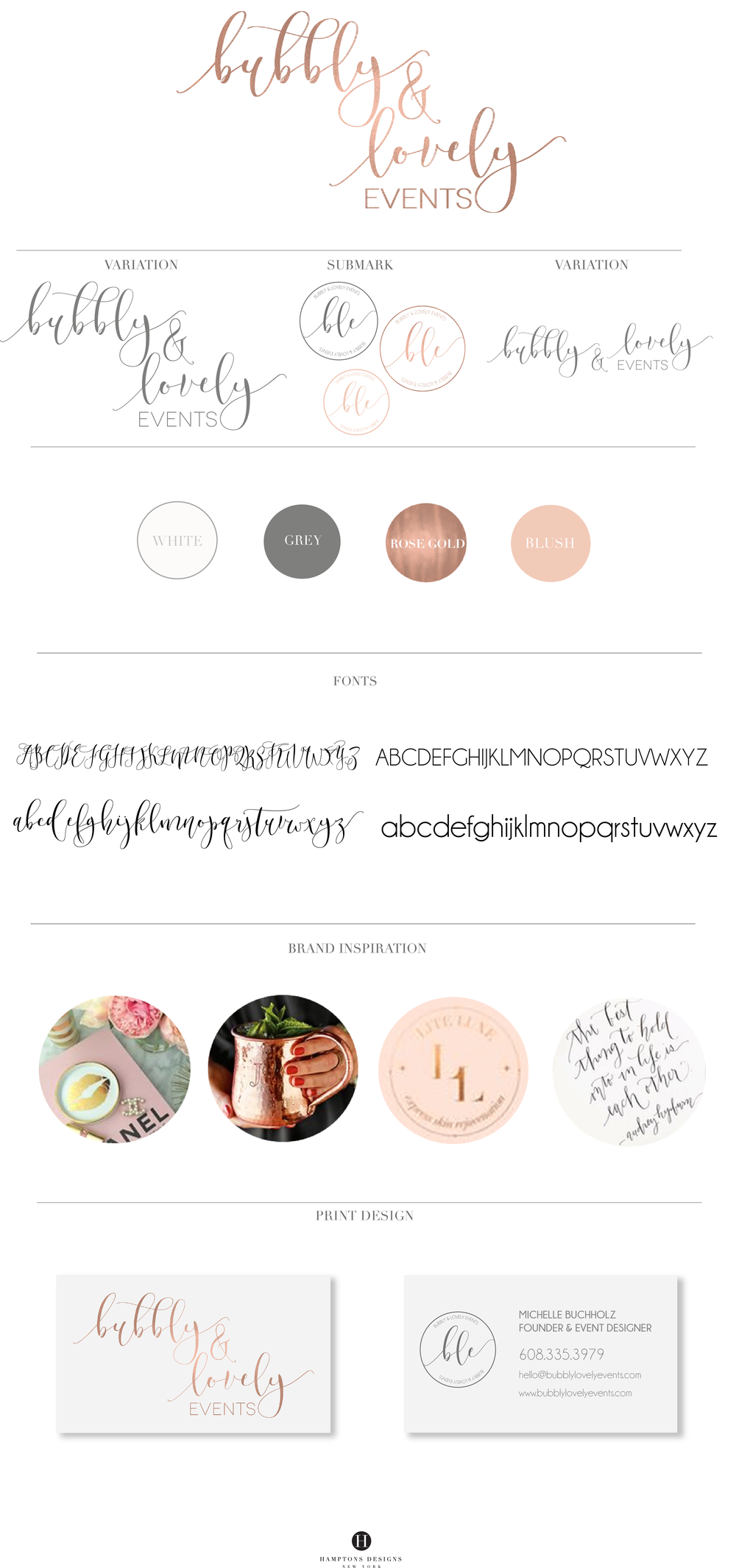 branding board blush rose gold branding board logo launch