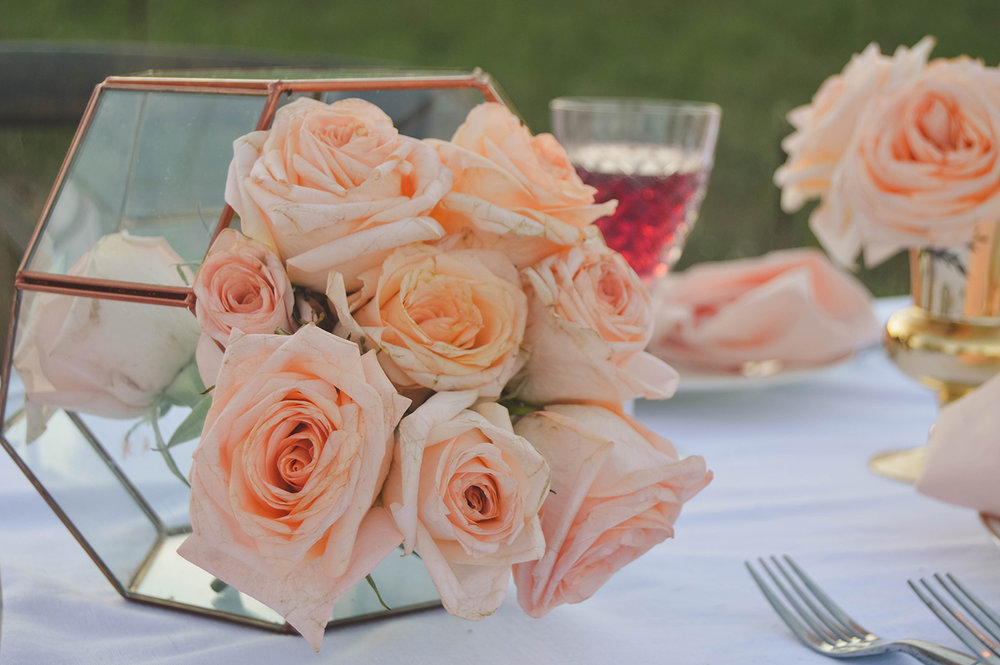 blush wedding rose gold wedding