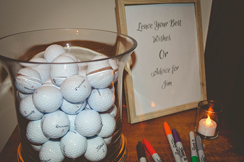golf ball guest book station