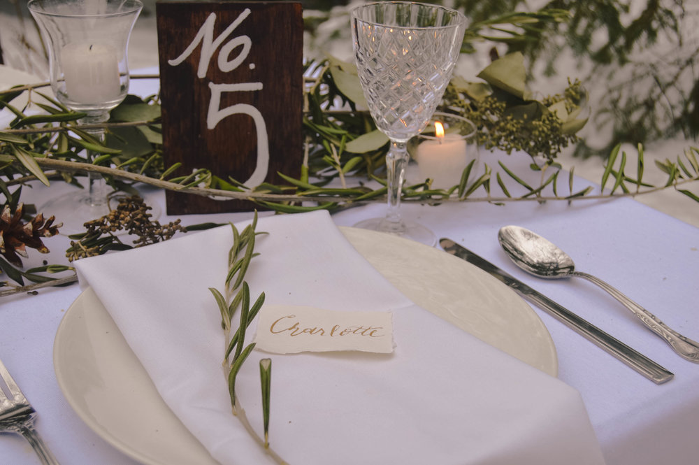wood table numbers wedding wisconsin