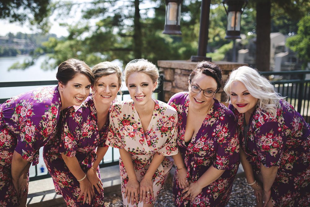 floral print wedding bridesmaid robes