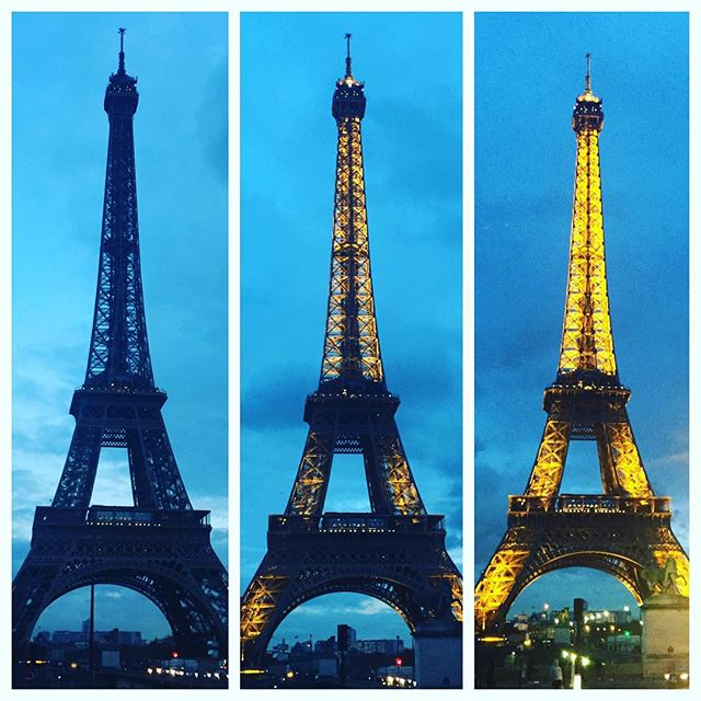 From 1 to 3 in half an hour..majestic 🇫🇷 #paris #france #french #eiffeltower #lights #majestic #beautiful #halfanhour #night #afternoon #tower #eiffel
