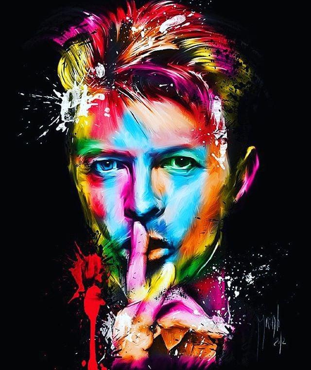David Bowie. ⭐️ By Patrice Murciano #davidbowie #painting #art #beautiful #patricemurciano #star #blackstar