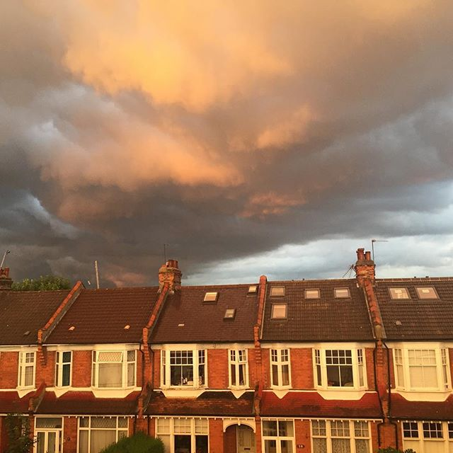 This is England.  #nofilter #storm #summer #sunset #london #england #weather #scary #crazy #beautiful #june