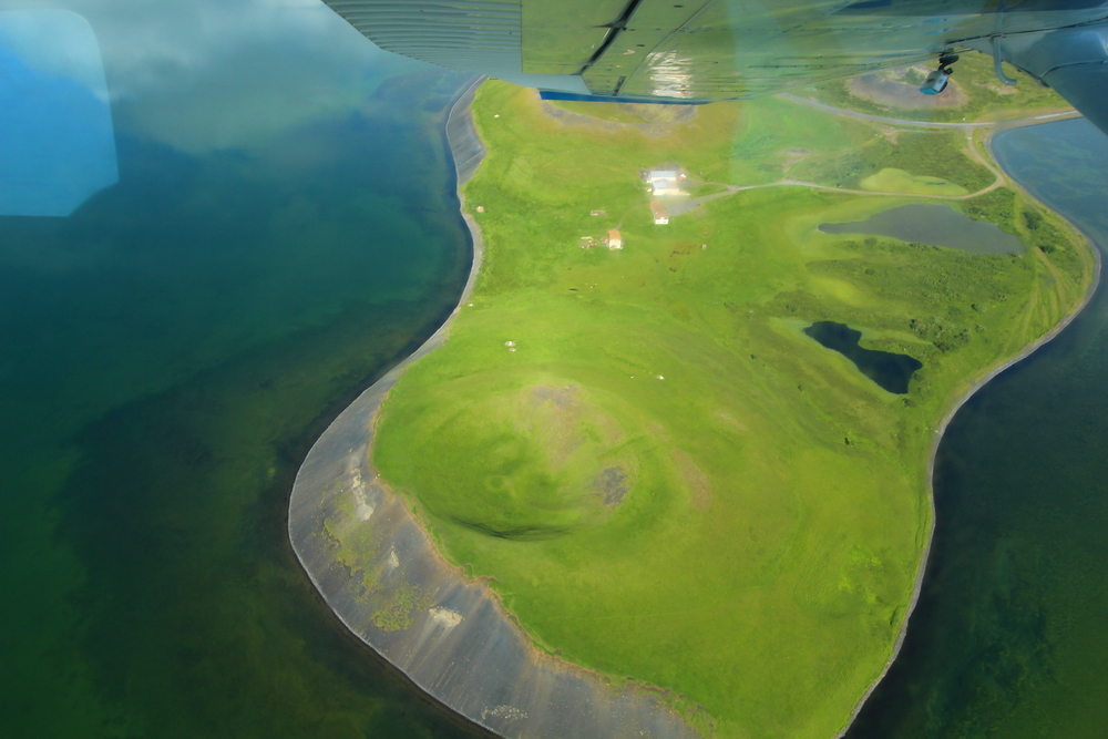 Mývatn Air Tour - Crater view