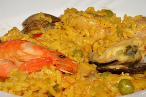 andalusian paella close up