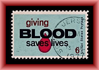 Salute to Blood Doner Postage Stamp