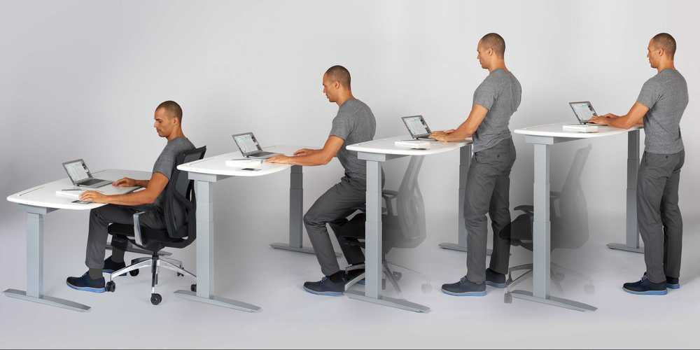 How to properly position stand up desk