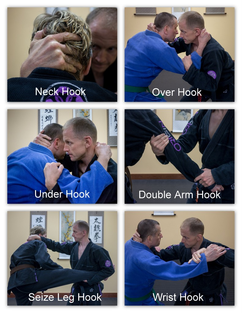 Hook variations found in mantis forms. Common to other styles of martial arts as well.