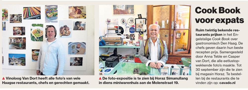 """In het AD """"bij ons in Den Haag"""""""
