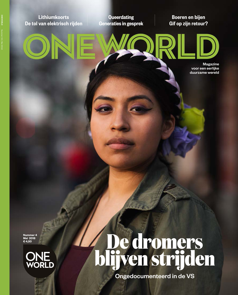 """Core Member's Voice Gets Dutch Platform Attention - ONE WORLD, the largest Dutch platform which focuses on a fair world, global solidarity and sustainability published an article in its magazine featuring our Core Member Guadalupe Jackie Muller on April of this year. The magazine followed her daily routine with the intention of showcasing more about the life of a """"DREAMer"""" under the Trump administration as well as her work at the NYSYLC.""""Guadalupe and the New York State Youth Leadership Council (NYSYLC) are fighting the fight against politicians who want to take them out of the country.""""-Karlij Van Houwelinge"""