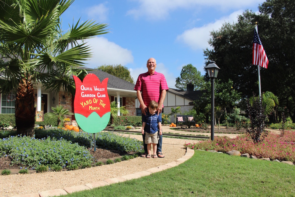 November 2015 Recipients - Paul and Joan Rao, 3106 Meadow Creek Dr. (Shown Paul and Grandson Brooks) Click for Slideshow
