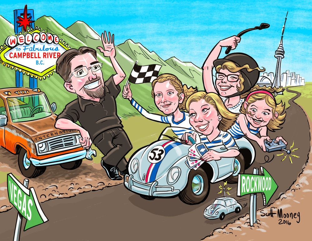 cUSTOM pORTRAITS - Looking for a gift to celebrate a milestone or event? A cartoon portrait can be a thoughtful, fun way to inspire and honour a work colleague, family member or friend. It's a keepsake with a smile.