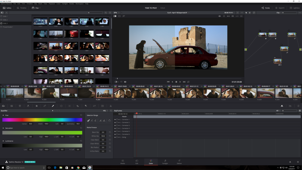 "Short film ""TIME TO PRAY"" - Color grading in Pixelhouse Production, Dubai, UAE"