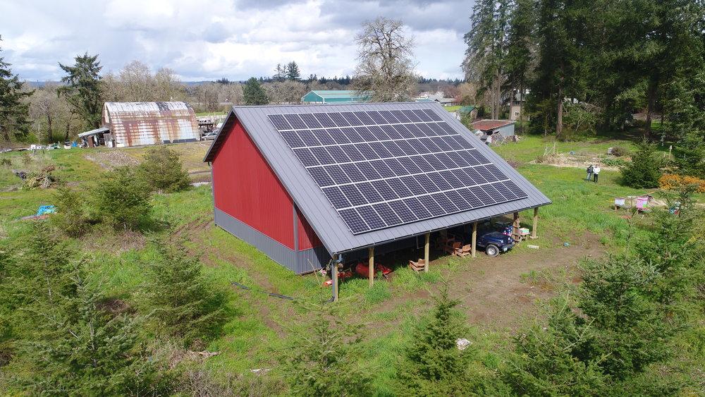 Elemental Energy - Custom Solarized Barn - Washington County, Oregon