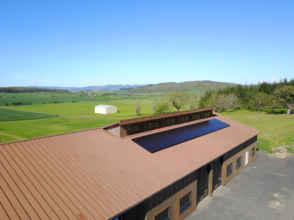 13.11 kW Solar PV System - Andante Vineyards - Oregon Solar - Elemental Energy
