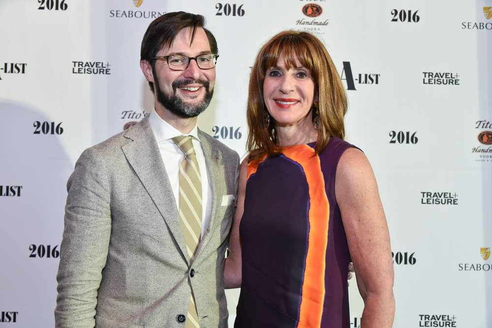 Susan Sparks with Nathan Lump, Editor, Travel + Leisure at the 2016 Travel + Leisure A-List reception August 9th during Virtuoso Week at Hyde Bellagio in Las Vegas.