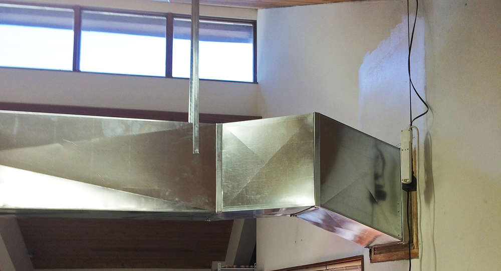Custom duct work (inside)