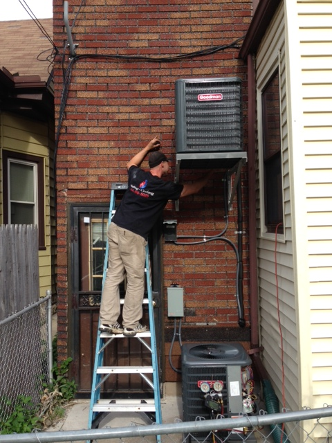 Installation of wall-mounted A/C unit