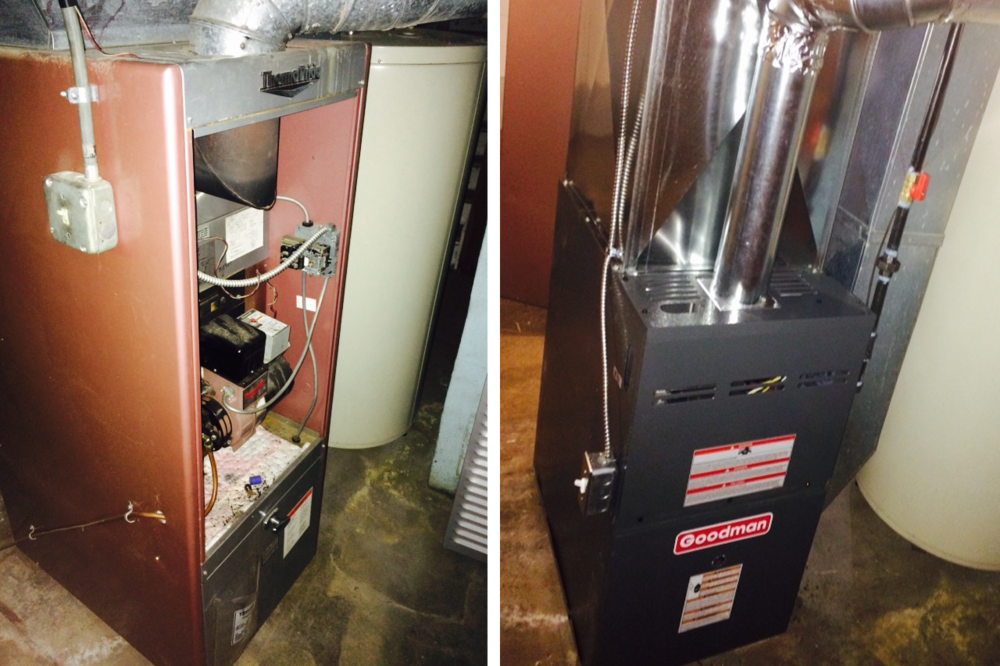 Before and after // Furnace install