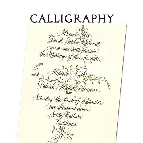 weddings calliraphy best custom wedding invitations letter perfect
