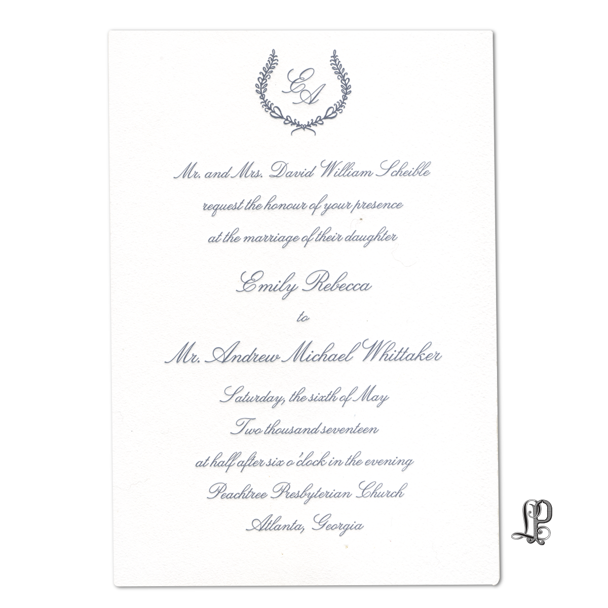 invitations wedding 2 — Letter Perfect Stationery
