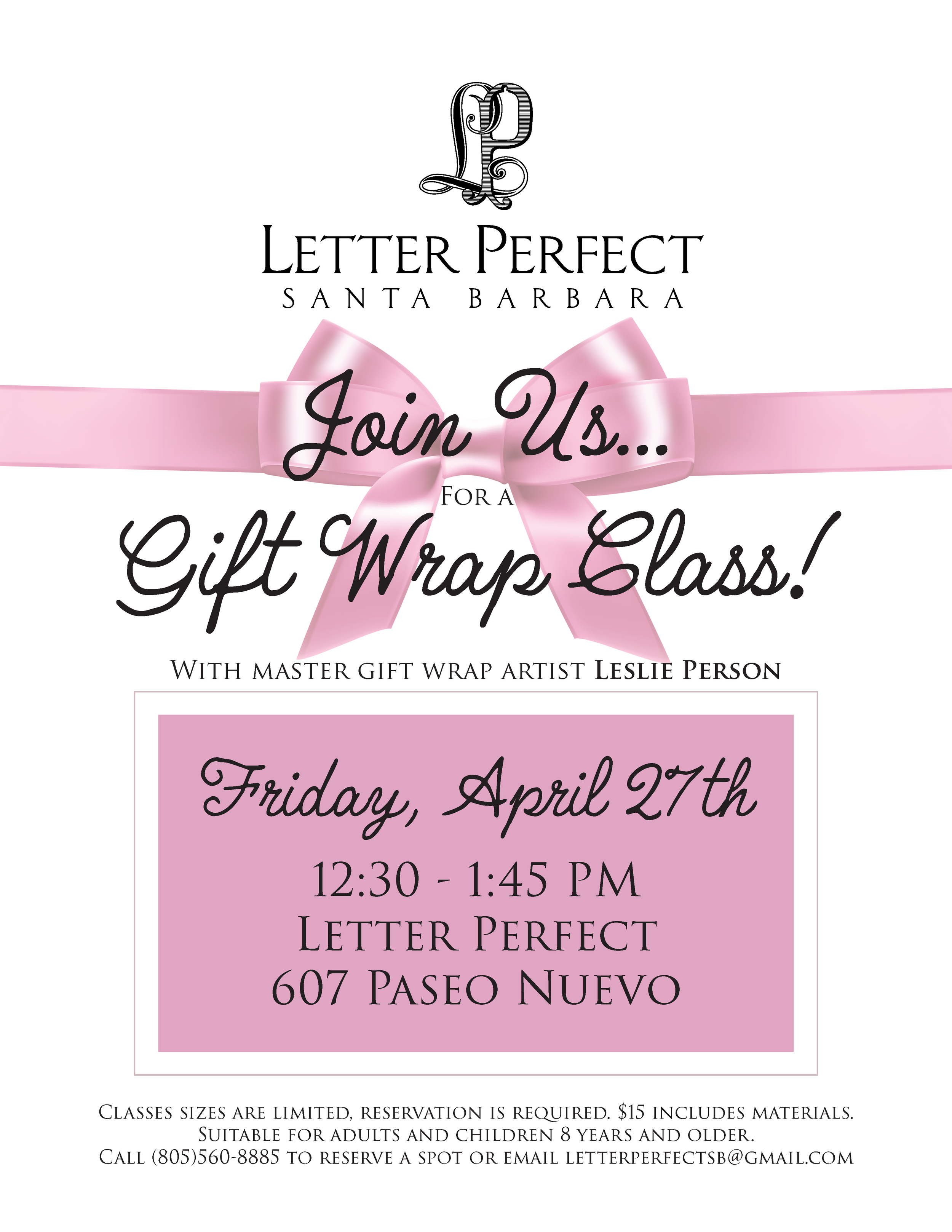Gift Wrap Class — Letter Perfect Stationery