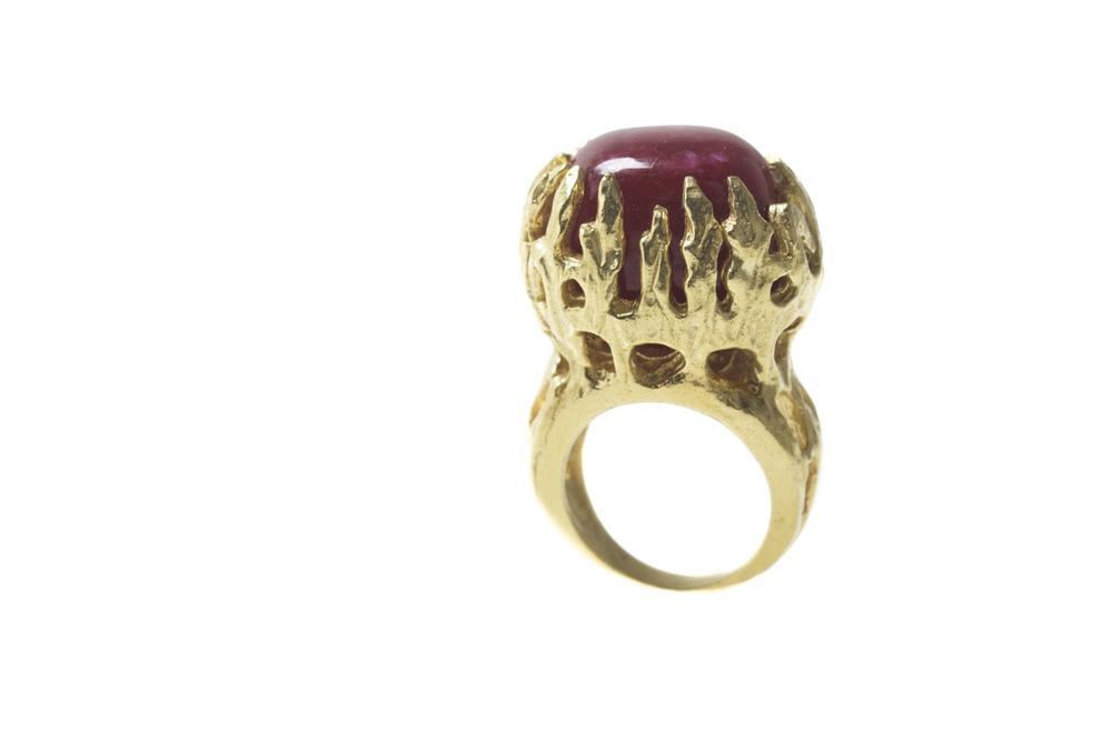 Ruby Corundum Talon Ring