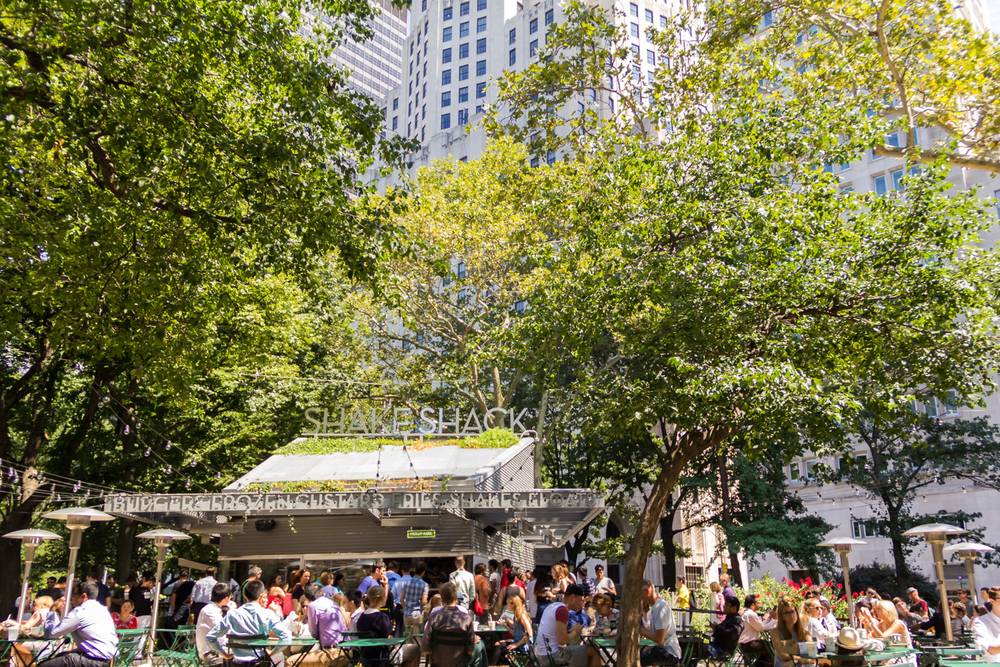 Shake Shack at Madison Square Park.