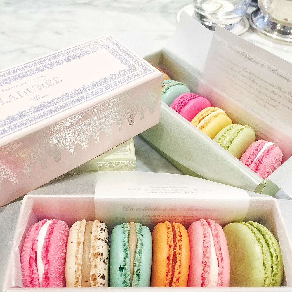 Laduree SoHo's colorful and delicious macarons.