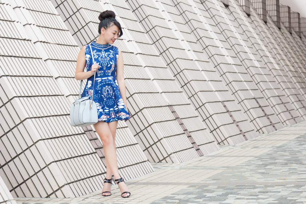 Blue SheIn Dress via The Chic Diary