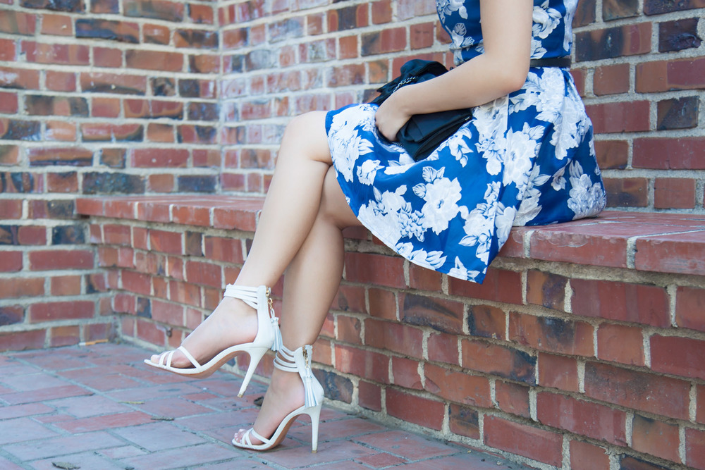 Grey Tassle Heeled Sandals | via The Chic Diary