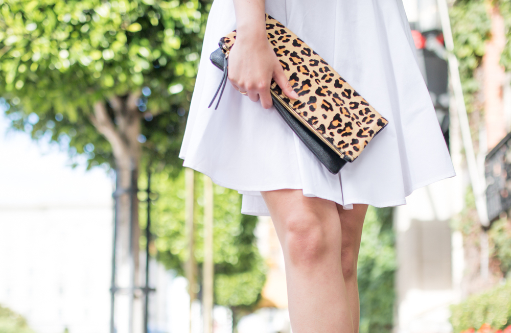 Banana Republic Leopard Clutch | via The Chic Diary