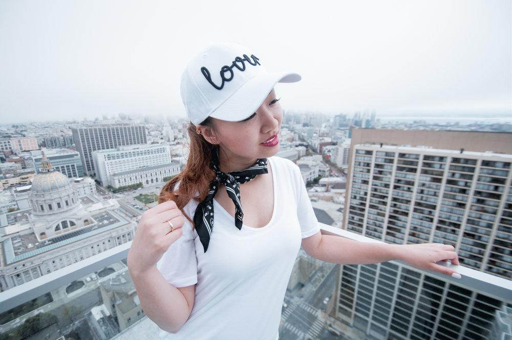 Baseball Cap & Bandana Scarf | The Chic Diary