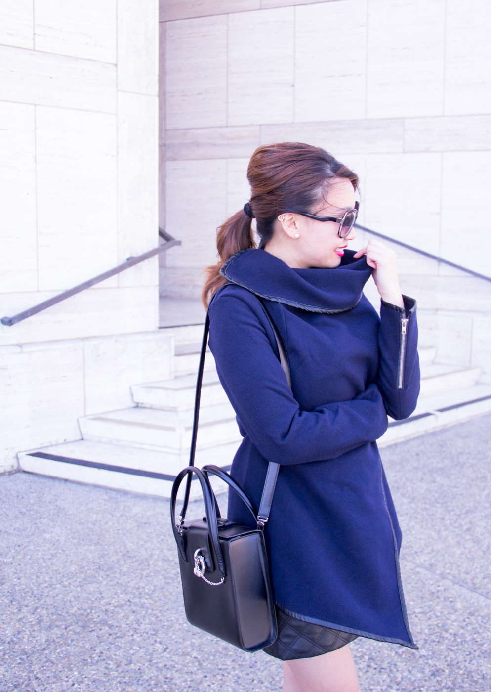 Asymmetric Trenchcoat | The Chic Diary