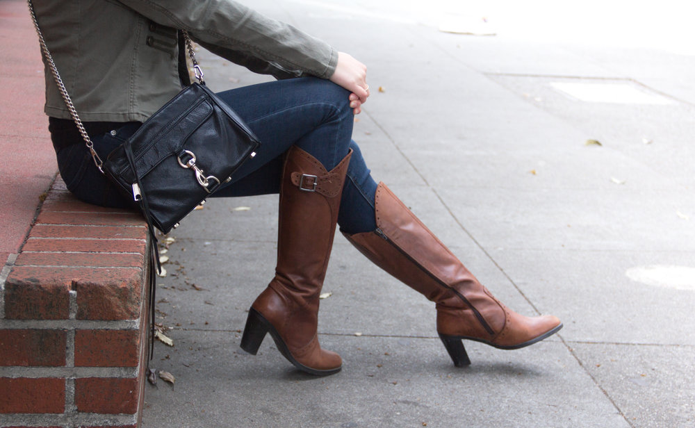 Aldo cognac heeled boots | The Chic Diary