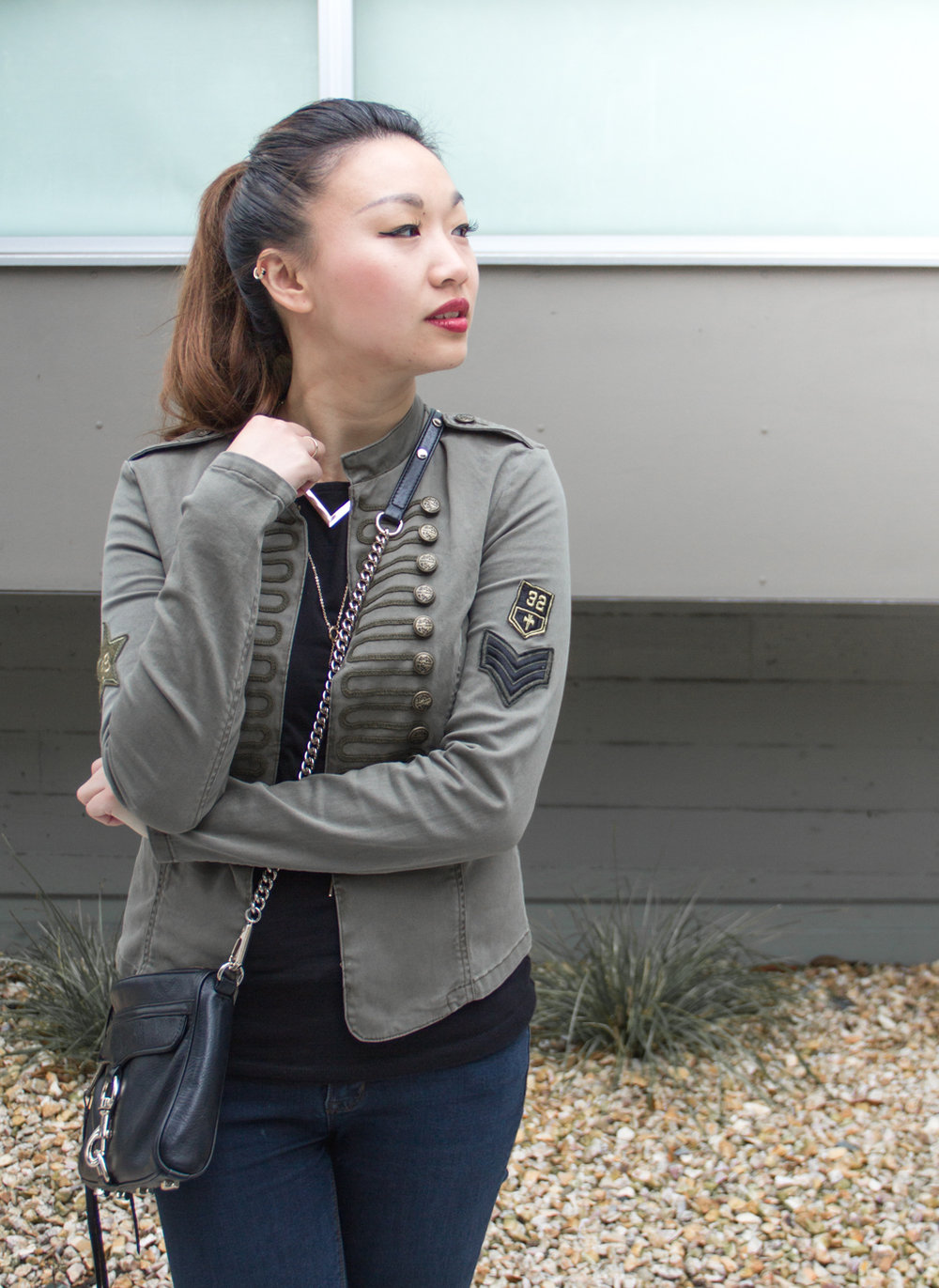 Olive military jacket | The Chic Diary